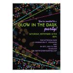 Neon Lights Glow in the Dark Party Invitation