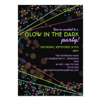 black light party invitations  announcements  zazzle, party invitations