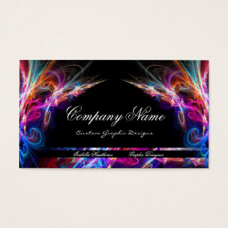 Neon Lights Graphic Designer Business Cards d3