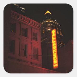 Neon Lights in the Big City Square Sticker