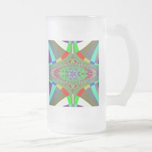 Neon Lights Ladder Fractal Coffee Mug