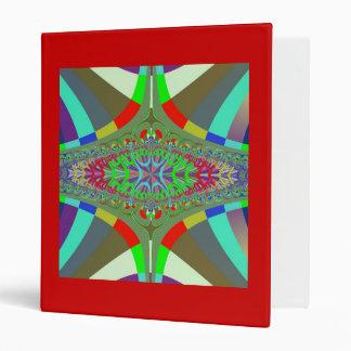 Neon Lights Ladder Fractal Vinyl Binder