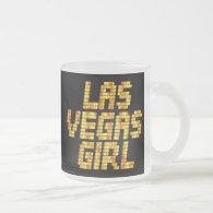 Neon Lights - Las Vegas Girl 10 Oz Frosted Glass Coffee Mug