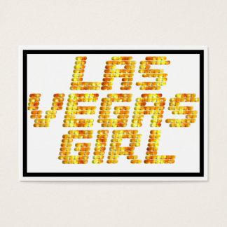 Neon Lights - Las Vegas Girl Business Card