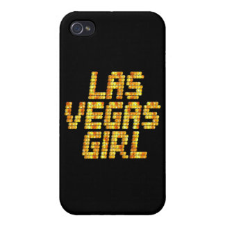 Neon Lights - Las Vegas Girl iPhone 4 Covers