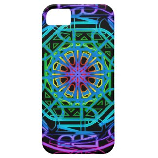 Neon Lights Mandala Design