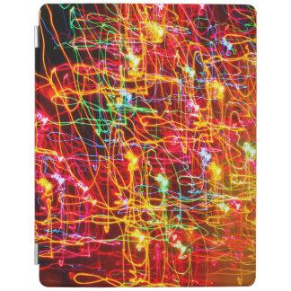 Neon lights multicoloured iPad cover