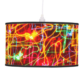 Neon lights multicoloured hanging pendant lamp