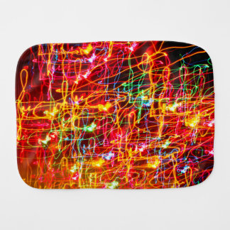 Neon lights multicoloured baby burp cloth