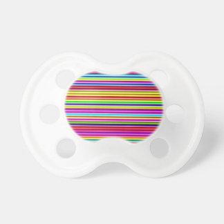 Neon Lights Stripes Pacifier