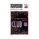 Neon Lights Sweet 16 Club Party Custom Postage