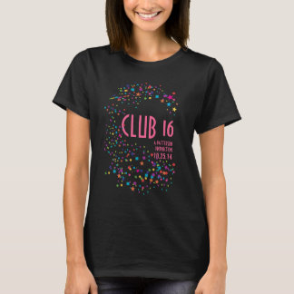 Neon Lights Sweet 16 Club Party Favor T-Shirt