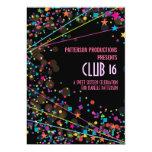 "Neon Lights Sweet 16 Club Party Invitation 5"" X 7"" Invitation Card"