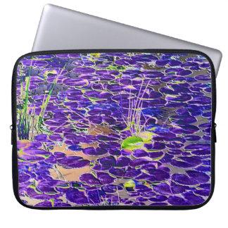 Neon Lilypad laptop sleeve