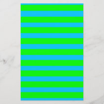 Neon Lime Green and Teal Blue Stripes