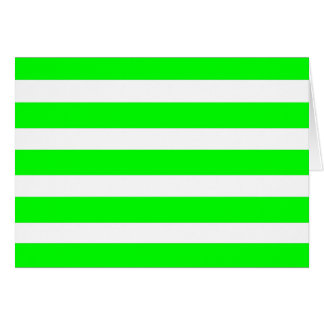 Neon Lime Green and White Stripes Pattern Novelty Card