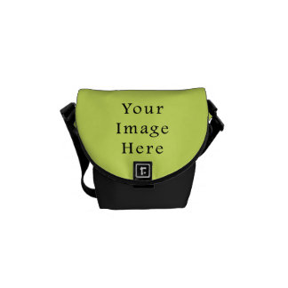 Neon Lime Yellow Green Color Trend Blank Template Courier Bag