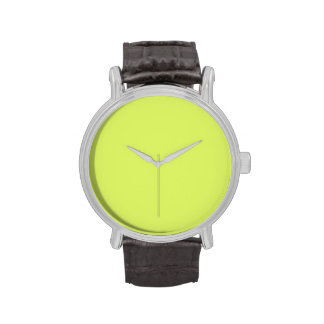 Neon Lime Yellow Green Color Trend Blank Template Watches
