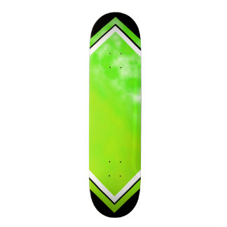 Neon Limeade Green Black Customizable Deck 1