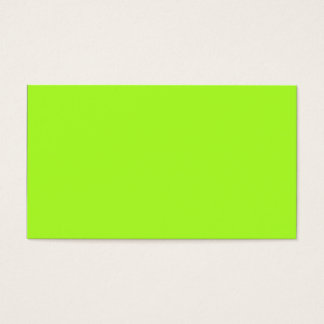 Neon Limeade Yellow Green Solid Color Background Business Card
