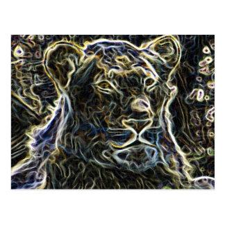 Neon Lion Postcard