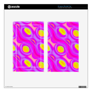 Neon Liquid Abstract Kindle Fire Decals