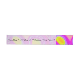 Neon Liquid Abstract Wrap Around Address Label