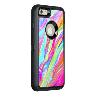 Neon Liquid Color OtterBox Defender iPhone Case