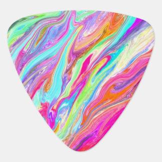 Neón líquido del color uñeta de guitarra