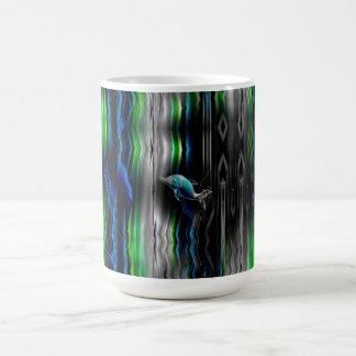Neón líquido del delfín de las vibraciones taza