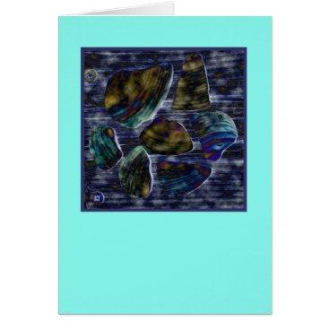 Beach Themed Neon look seashells (note card) card