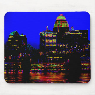 Neon Louisville Skyline Mousepad