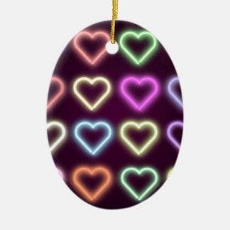Neon Love Ceramic Ornament