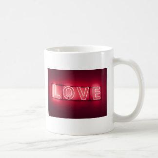 Neon 'LOVE' sign Coffee Mug