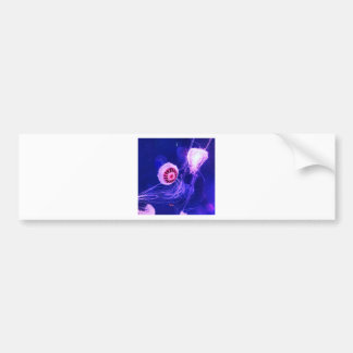 Neon Luminous Jellyfish Bumper Sticker