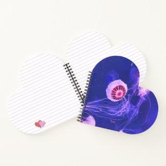 Neon Luminous Jellyfish Notebook