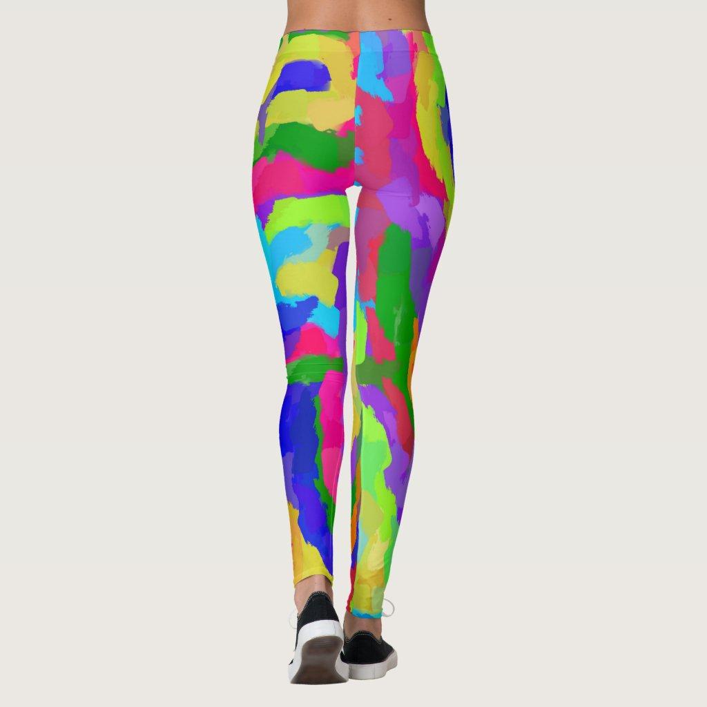 Neon Magic Marker Art 9931 Leggings