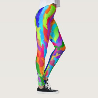 Neon Magic Marker Art 9931 Leggings