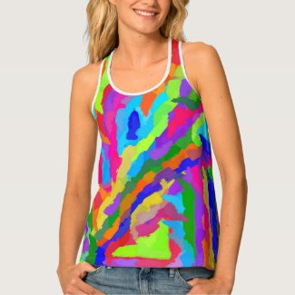 Neon Magic Marker Art 9931 Tank Top