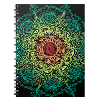 Neon Mandala Design Notebook