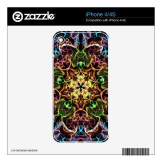 Neon Mandala iPhone 4S Skin