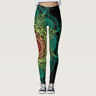 Neon Mandala Leggings