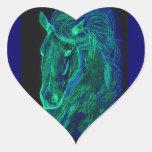 Neon Mane Heart Sticker
