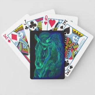 Neon Mane Playing Cards