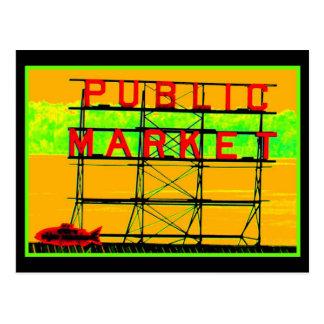 Neon Market Postcard