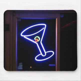Neon Martini Mouse Pad