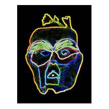 Neon Mask postcard