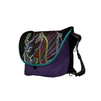 Neon Masquerade Rickshaw Messenger Bag
