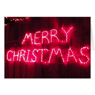 Neon Merry Christmas Cards