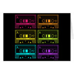 Neon Mix Tapes Greeting Card
